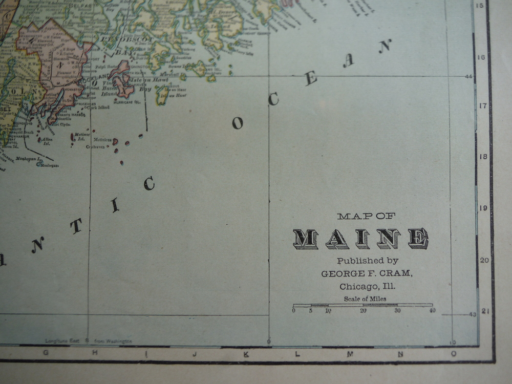 Image 1 of Cram's Map of Maine (1901)