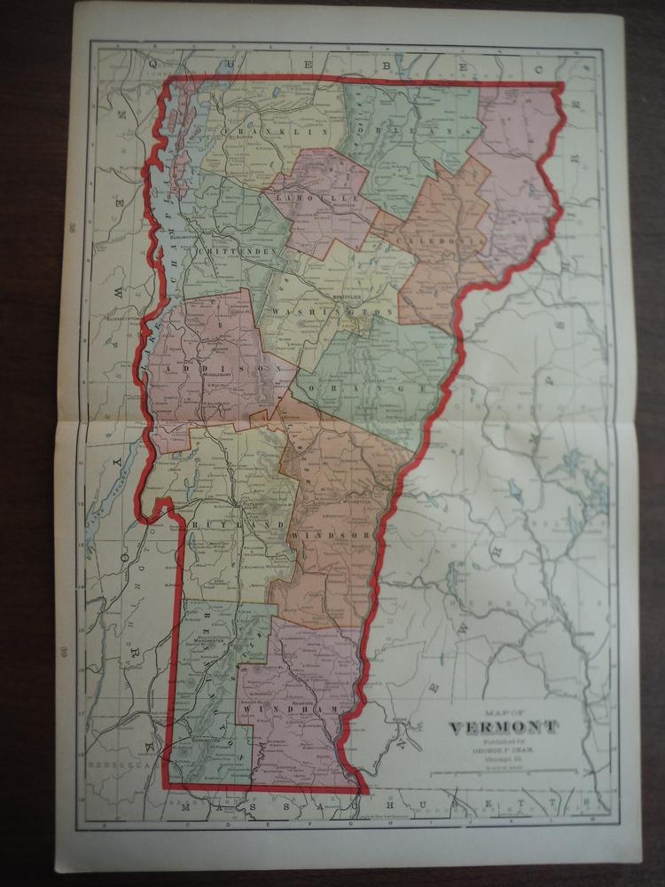 Cram's Map of Vermont (1901)