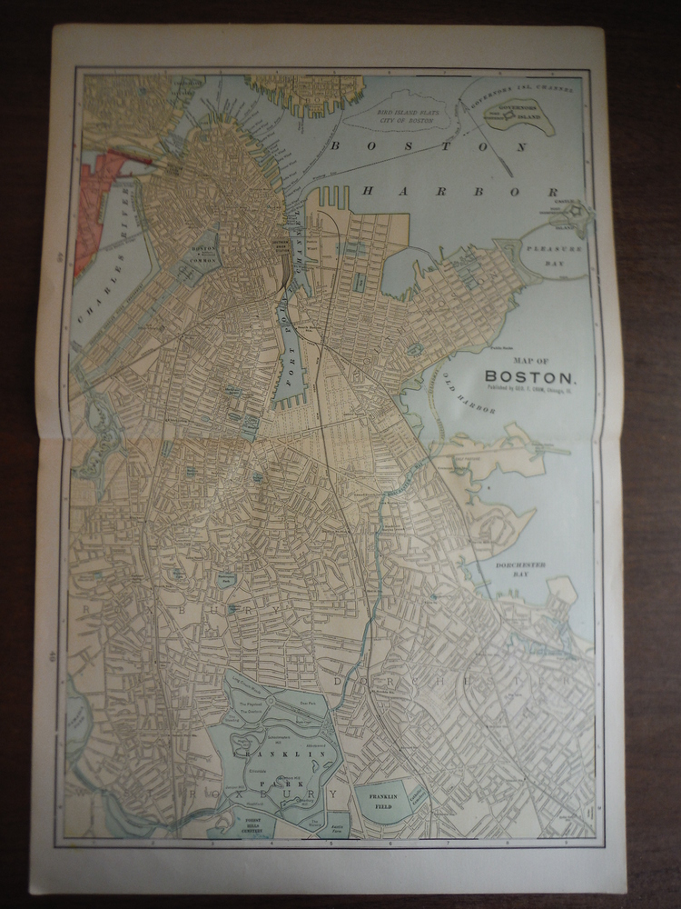 Image 0 of Cram's Map of Boston (1901)