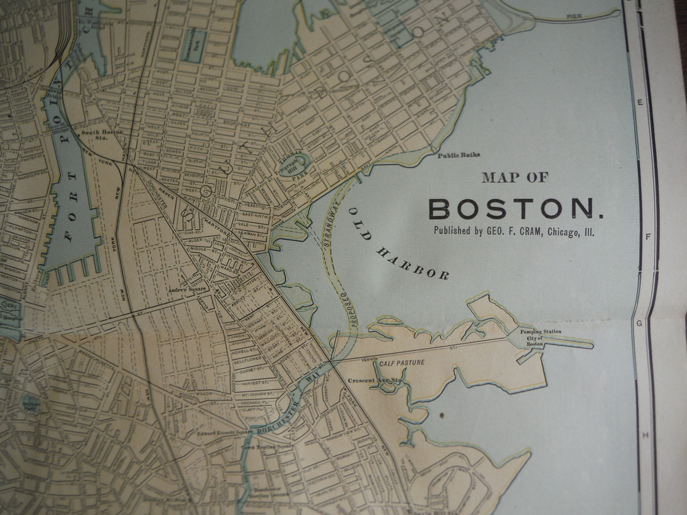 Image 1 of Cram's Map of Boston (1901)