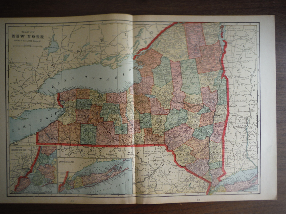 Cram's Map of New York State (1901)