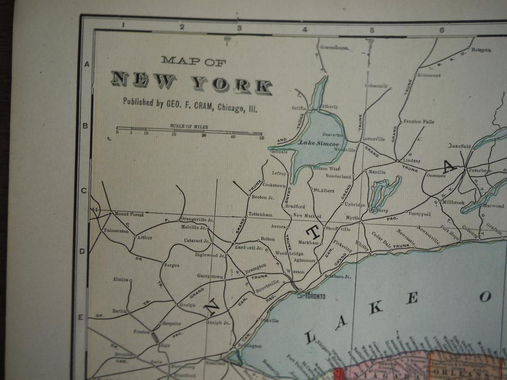 Image 1 of Cram's Map of New York State (1901)