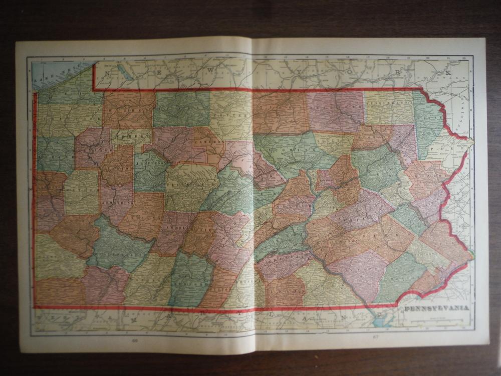 Cram's Map of Pennsylvania (1901)