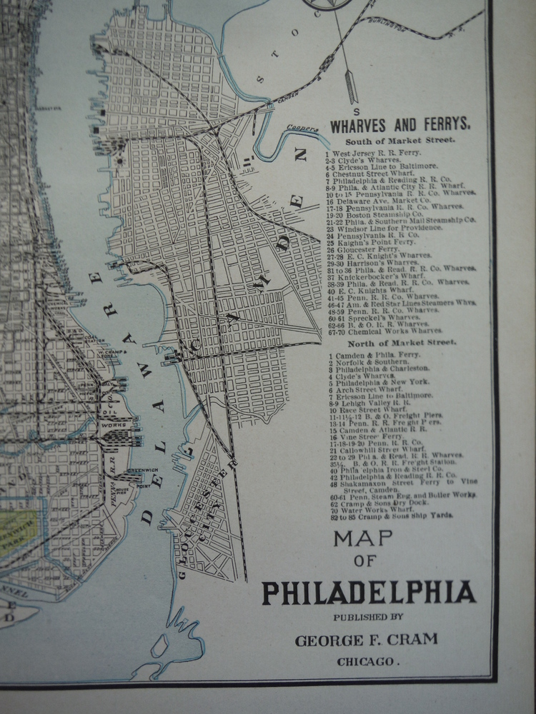 Image 1 of Cram's Map of Philadelphia (1901)