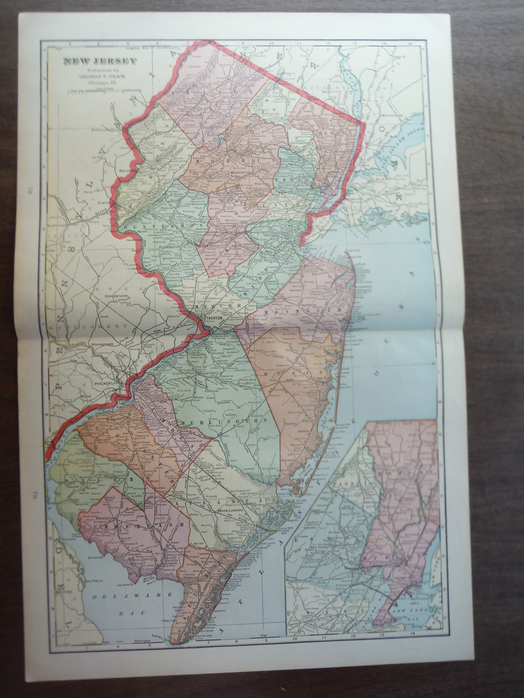Cram's Map of New Jersey (1901)