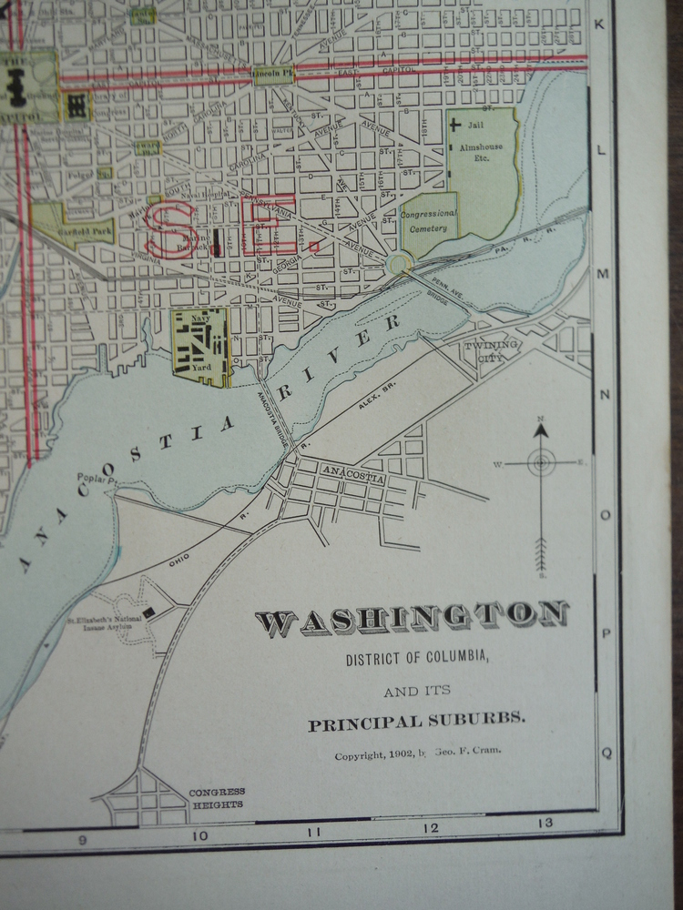 Image 1 of Cram's Map of Washington, District of Columbia  and its Principal Suburbs(1901)