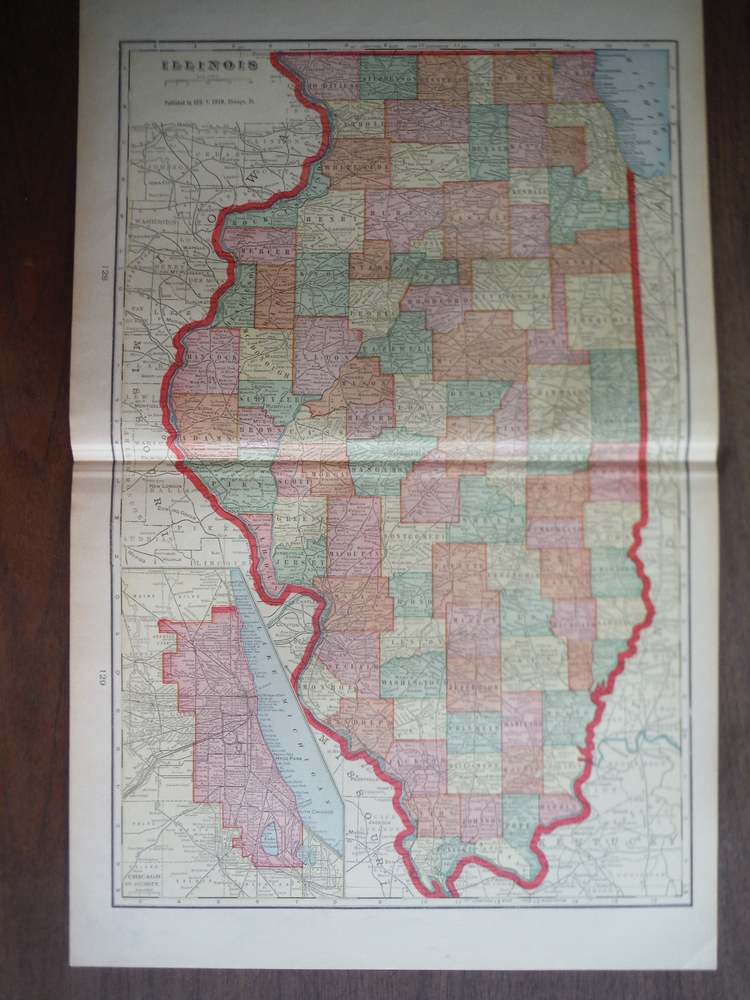 Cram's Map of Illinois (1901)