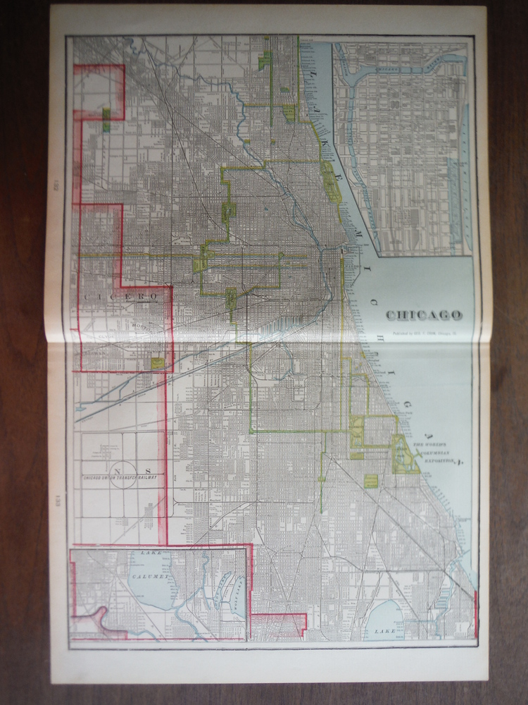 Image 0 of Cram's Map of Chicago (1901)