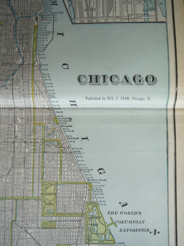 Image 1 of Cram's Map of Chicago (1901)