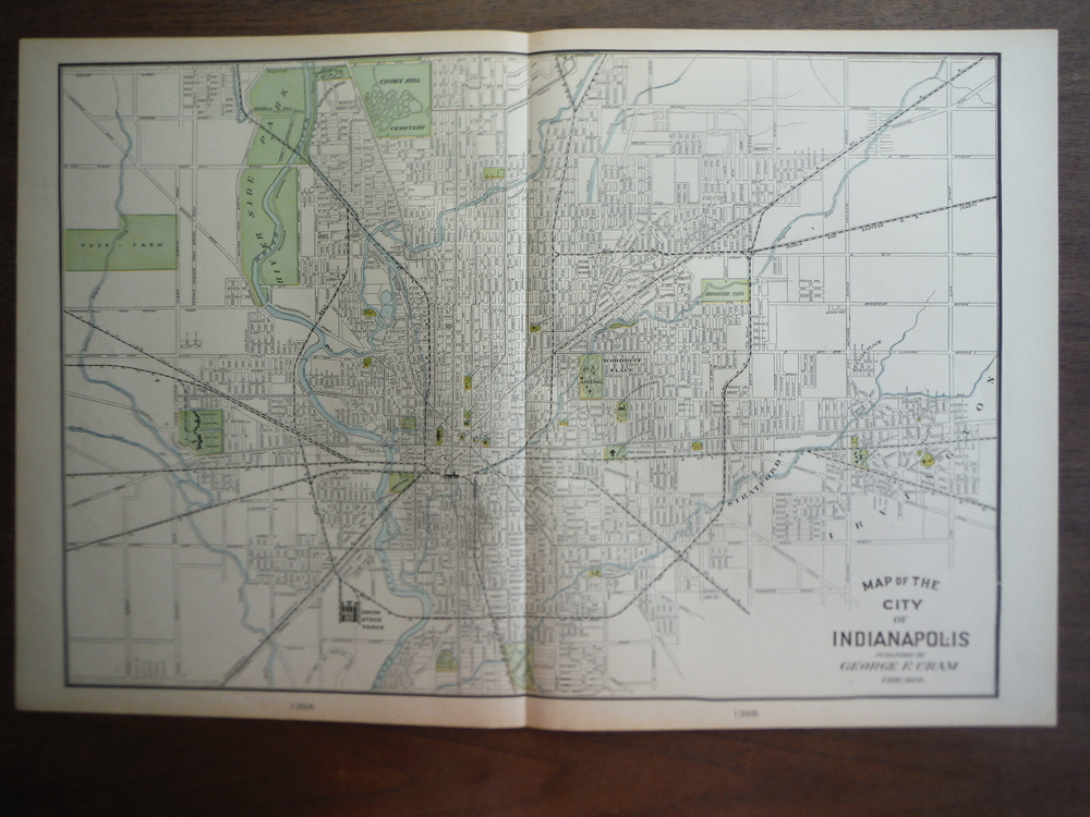 Cram's Map of Indianapolis (1901)