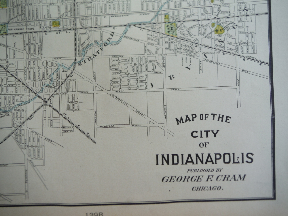 Image 1 of Cram's Map of Indianapolis (1901)