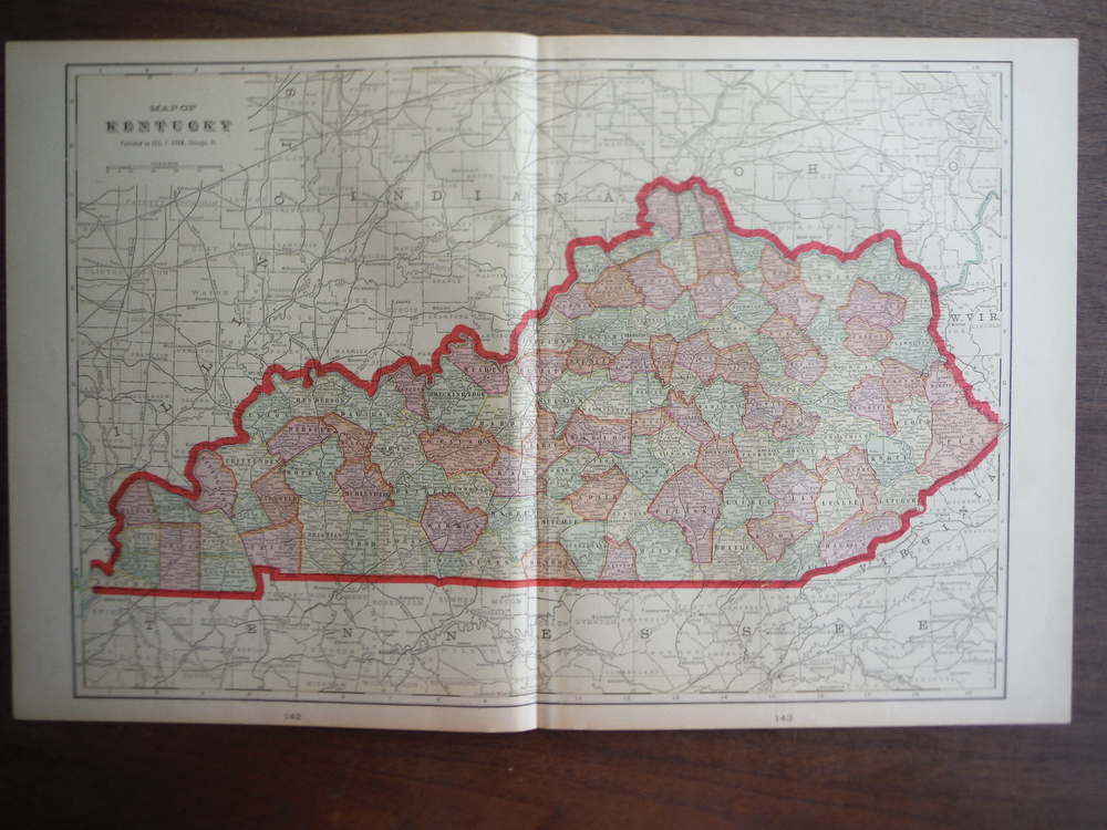Cram's Map of Kentucky (1901)
