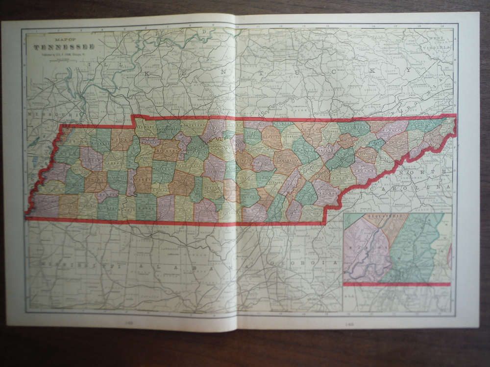 Cram's Map of Tennessee (1901)