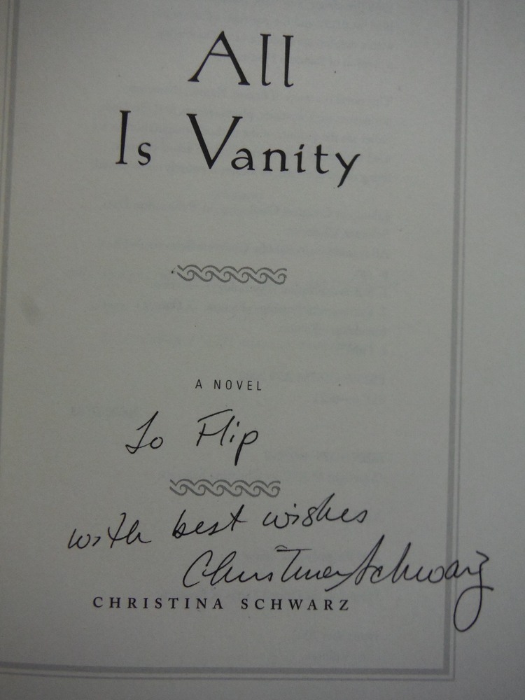 Image 1 of All Is Vanity: A Novel