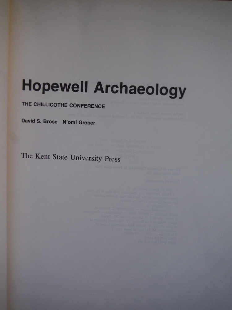 Image 1 of Hopewell Archaeology (MCJA special paper ; no. 3)