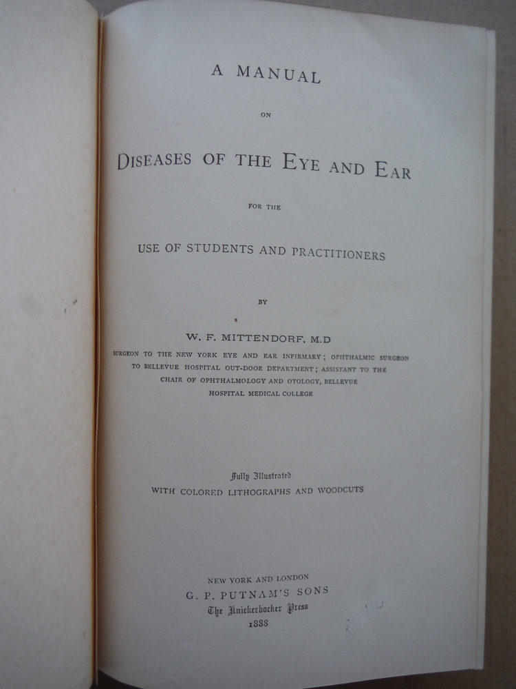 Image 2 of A manual on diseases of the eye and ear: For the use of students and practitione