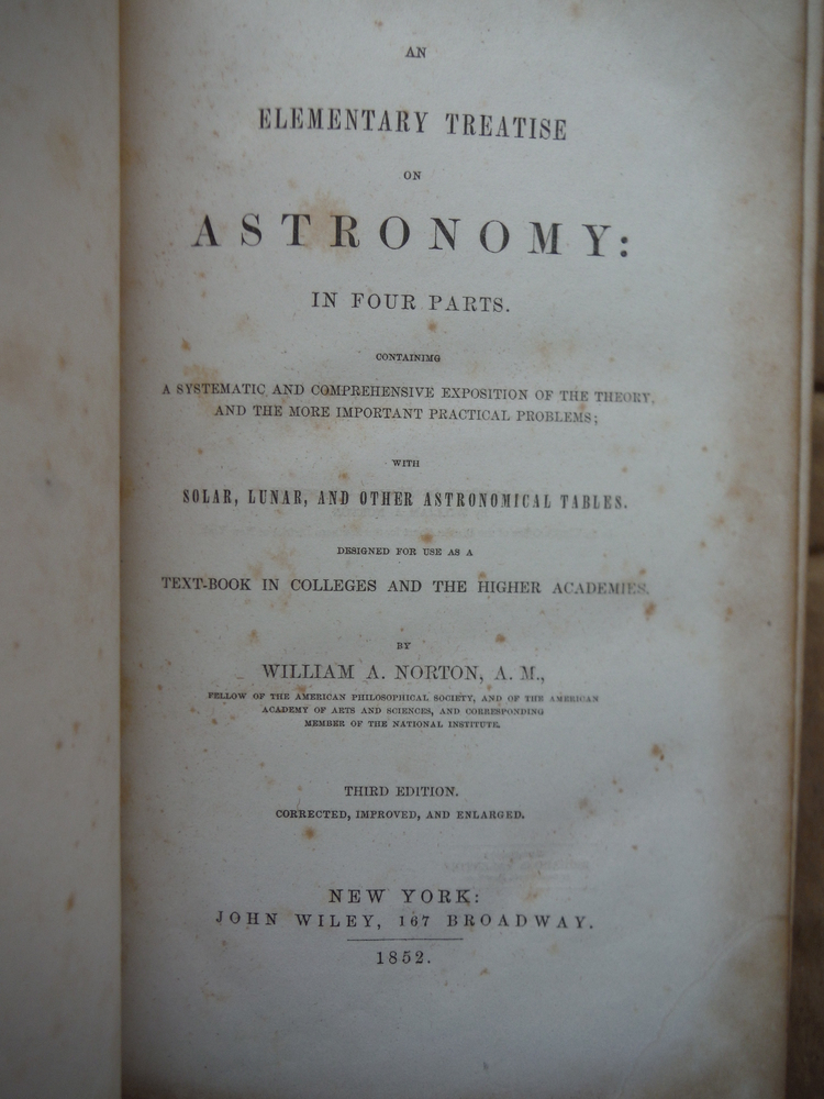 Image 1 of An Elementary Treatise on Astronomy: In four parts, containing a systematic and