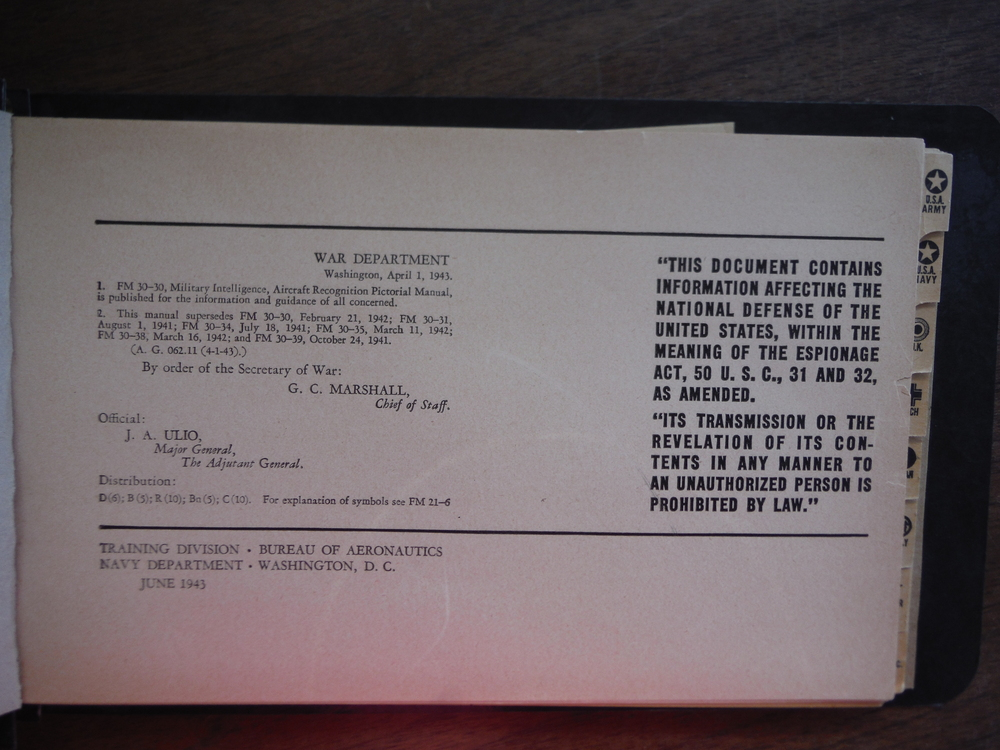 Image 1 of Recognition Pictorial Manual FM 30-30