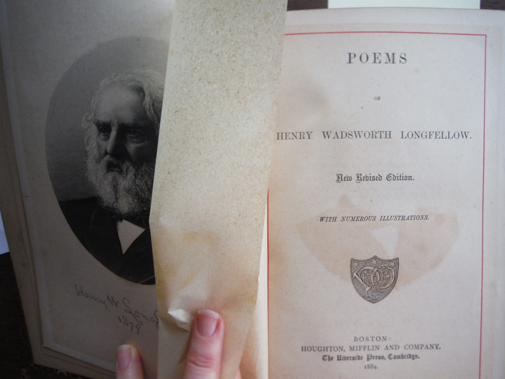Image 2 of Poems of Henry Wadsworth Longfellow New Revised Edition with Numerous Illustrati