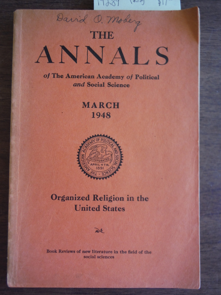Organized Religion in the United States: The Annals of the American Adademy of P