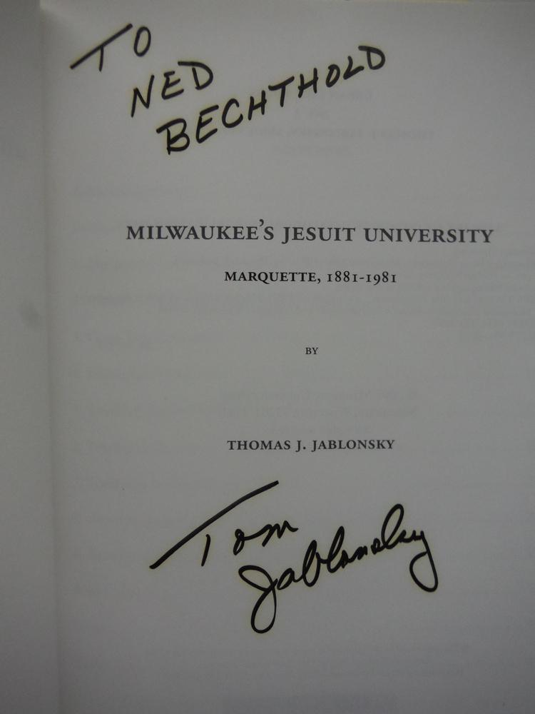 Image 1 of Milwaukee's Jesuit University: Marquette, 1881-1981  (Urban Life Series)