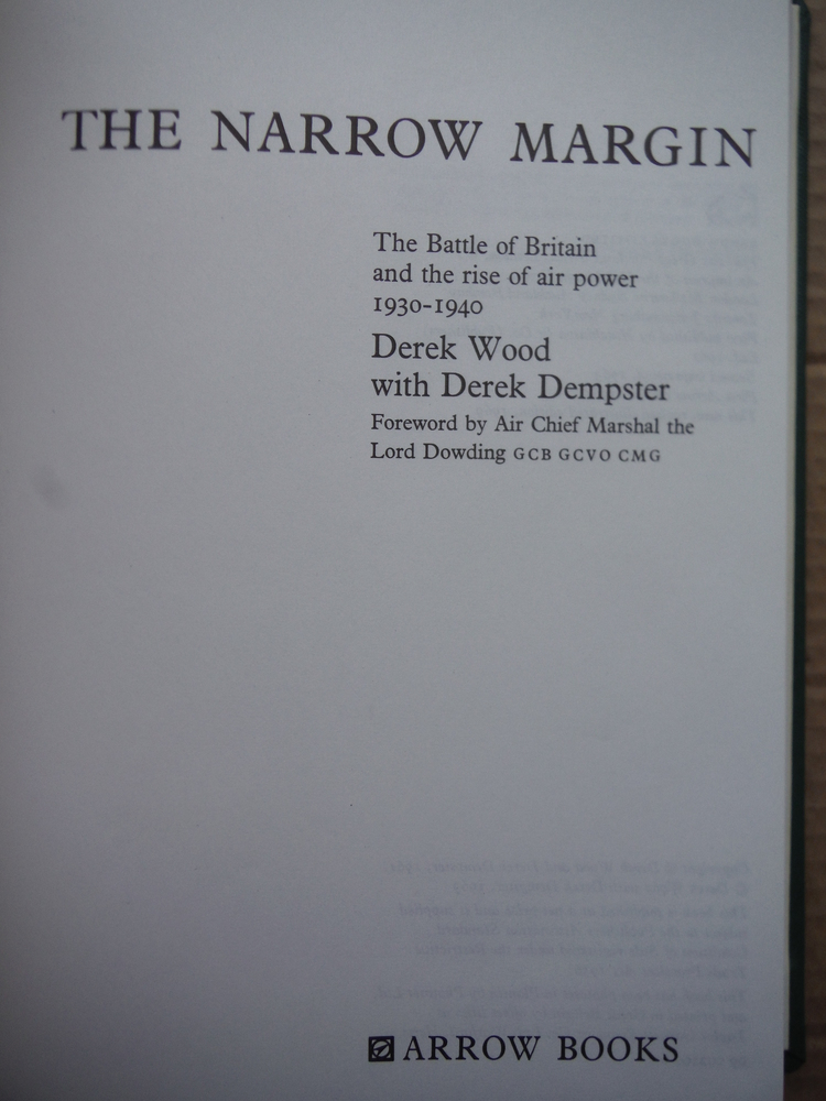 Image 1 of The Narrow Margin The Battle of Britain and the Rise of Air Power 1930 - 1940