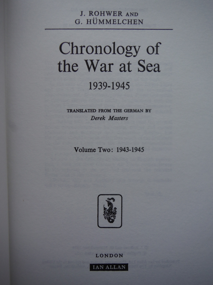 Image 2 of Chronology of the War at Sea 1939-1945 (2 Vols)