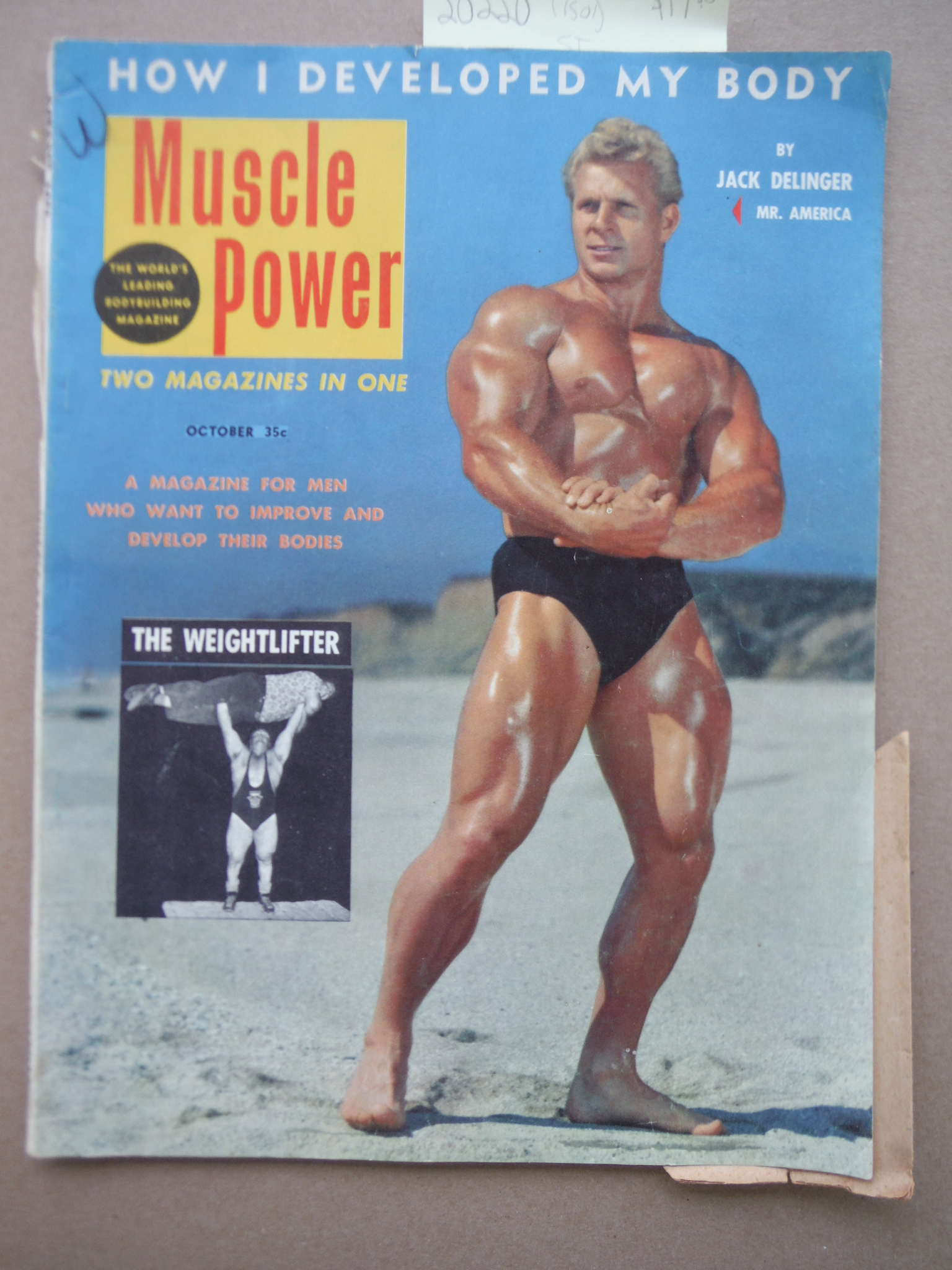 Image 0 of Muscle Power Magazine October 1953 Jack Delinger