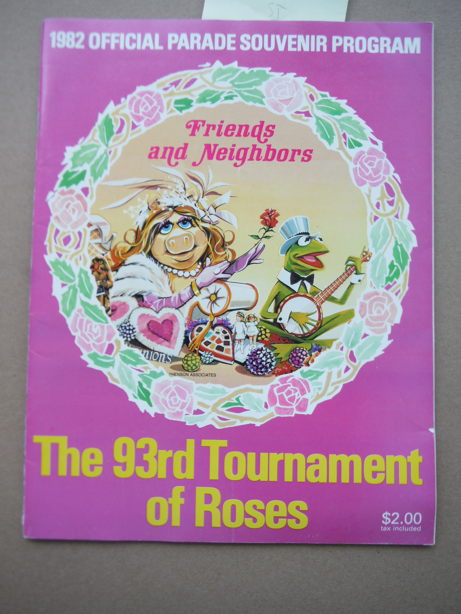 Image 0 of The 93rd Tournament of Roses : 1982 Official Parade Souvenir Program, Friends an