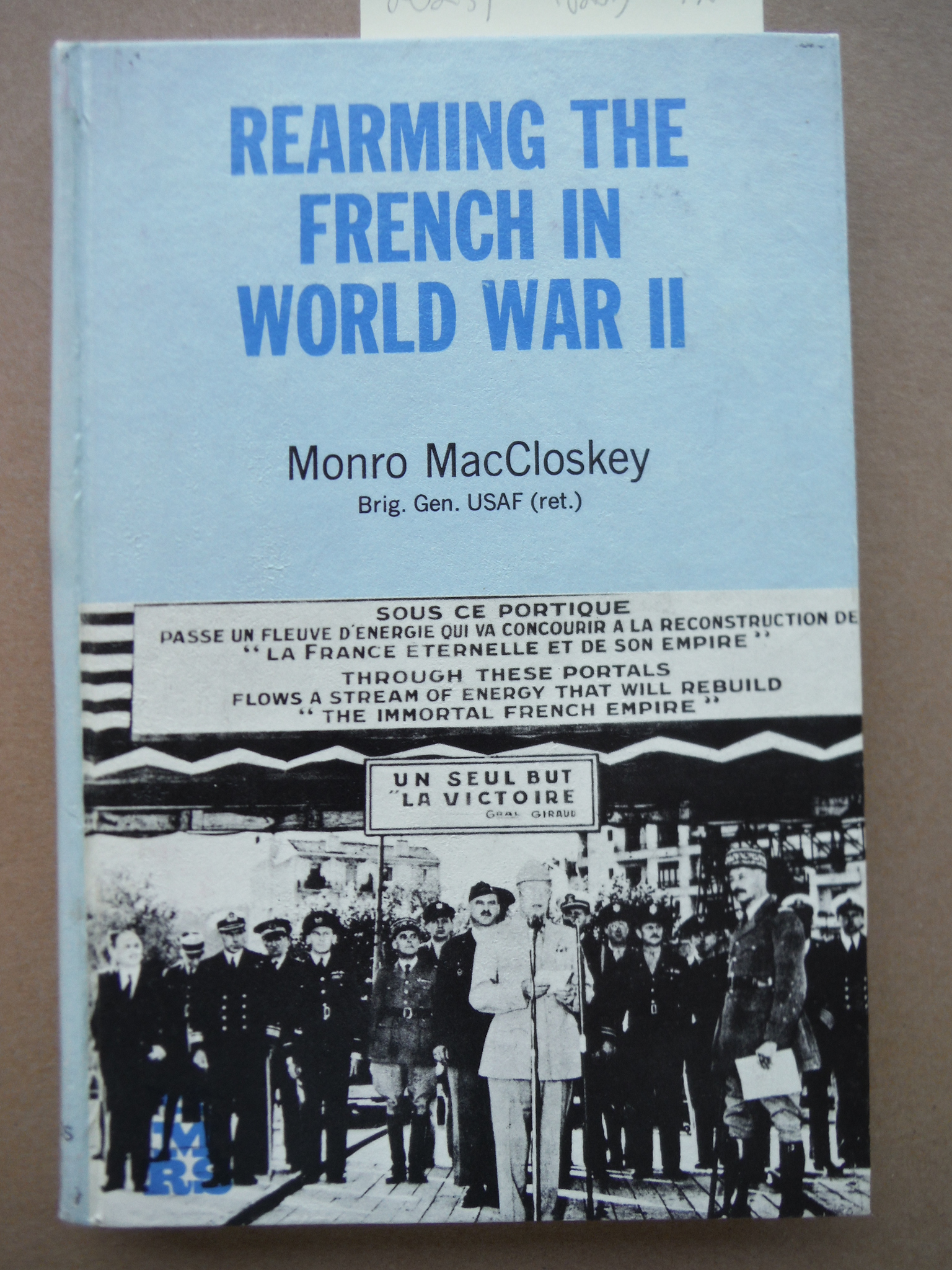 Image 0 of Rearming the French in World War II (Military research series)