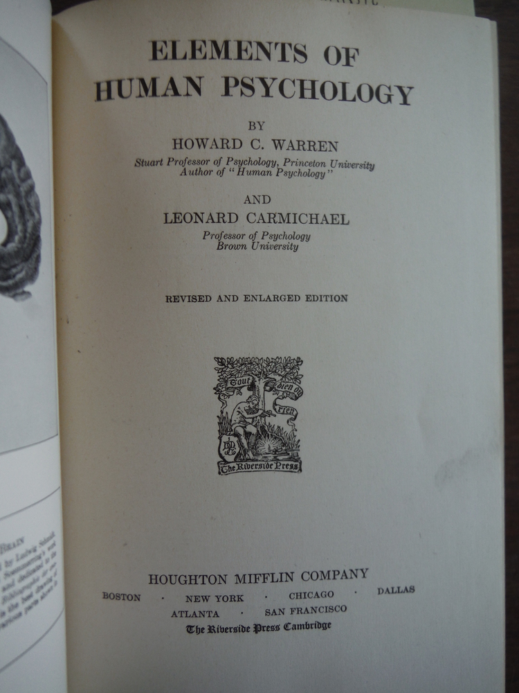 Image 1 of Elements of Human Psychology