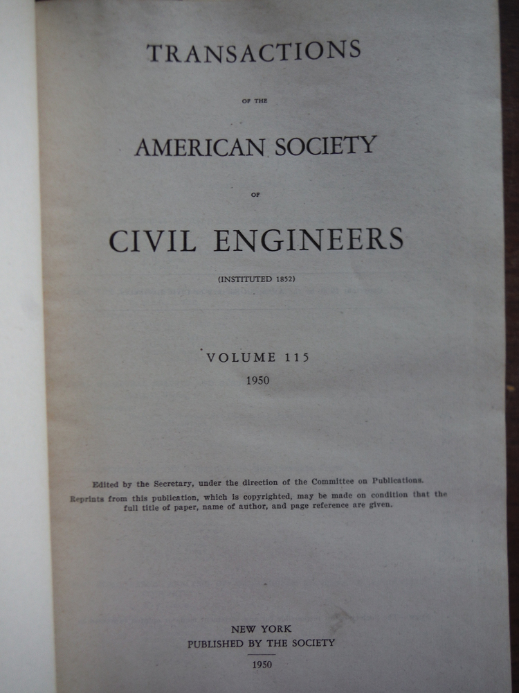 Image 1 of Transactions of the American Society of Civil Engineers (Volume 115)