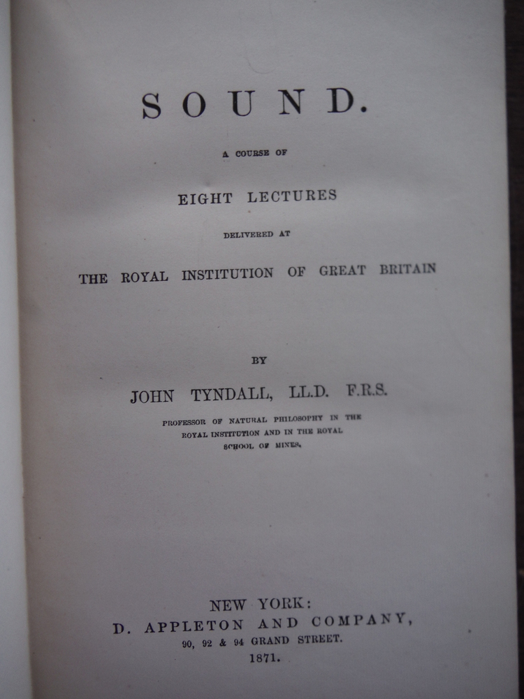 Image 1 of  A Course of Eight Lectures Delivered at The Royal Institution of Great Britain