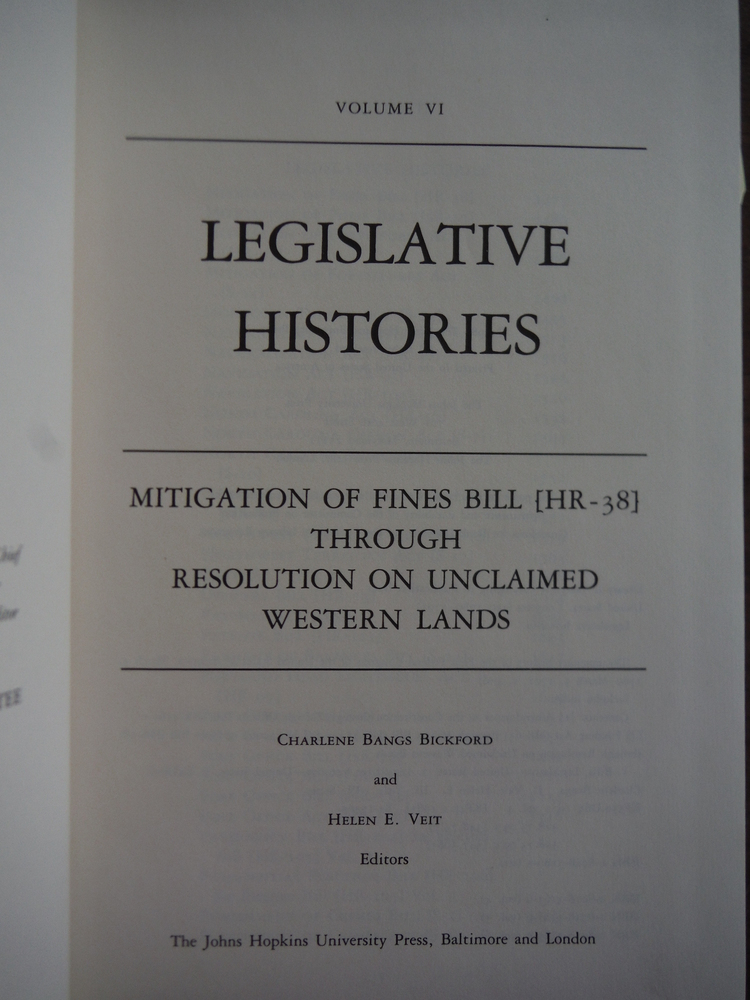 Image 1 of Documentary History of the First Federal Congress of the United States of Americ
