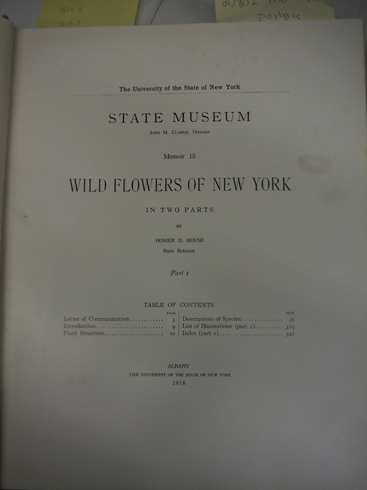 Image 1 of Wild Flowers of New York -- Two Volume Set, (Parts 1 and 2) -- University of the
