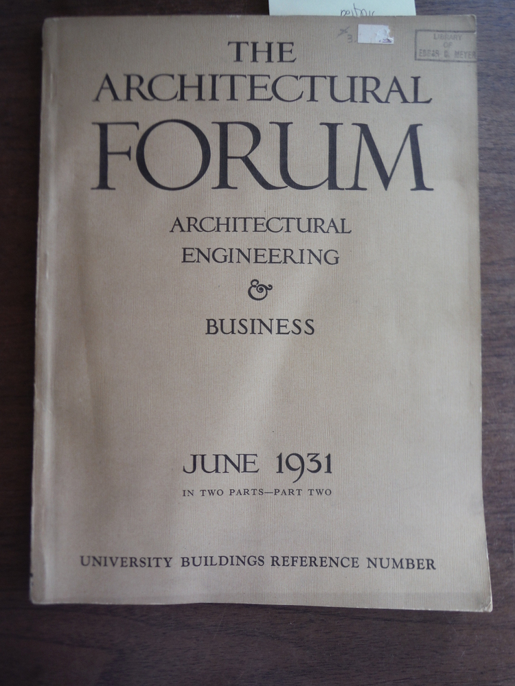 Image 0 of The Architectural Forum May 1931 Part 2: Architectural Engineering and Business