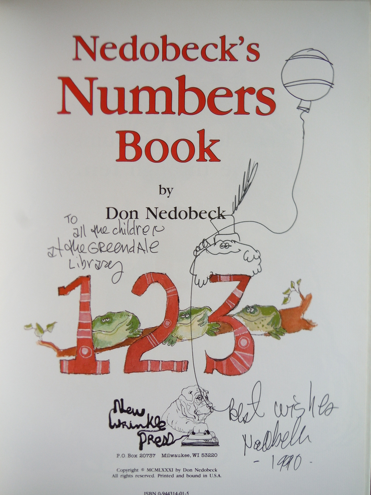 Image 1 of Nedobeck's Numbers Book