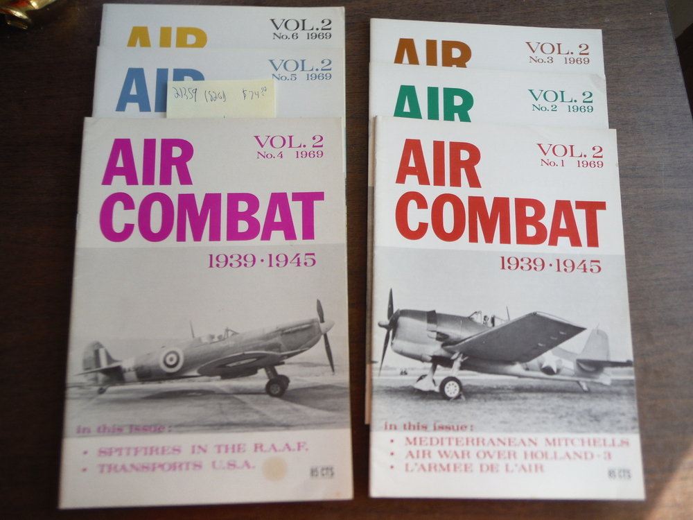 Air Combat Vol. 2 No. 1 thru No. 6  1968