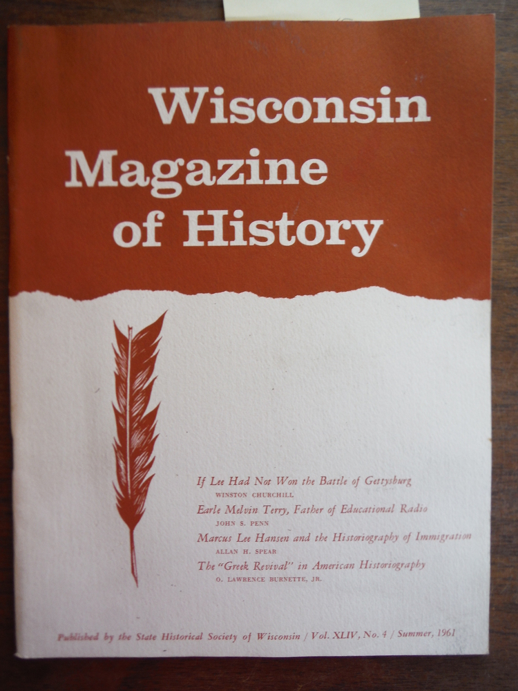 Image 0 of Wisconsin Magazine of History Vol. XLIV, No. 4 Summer, 1961