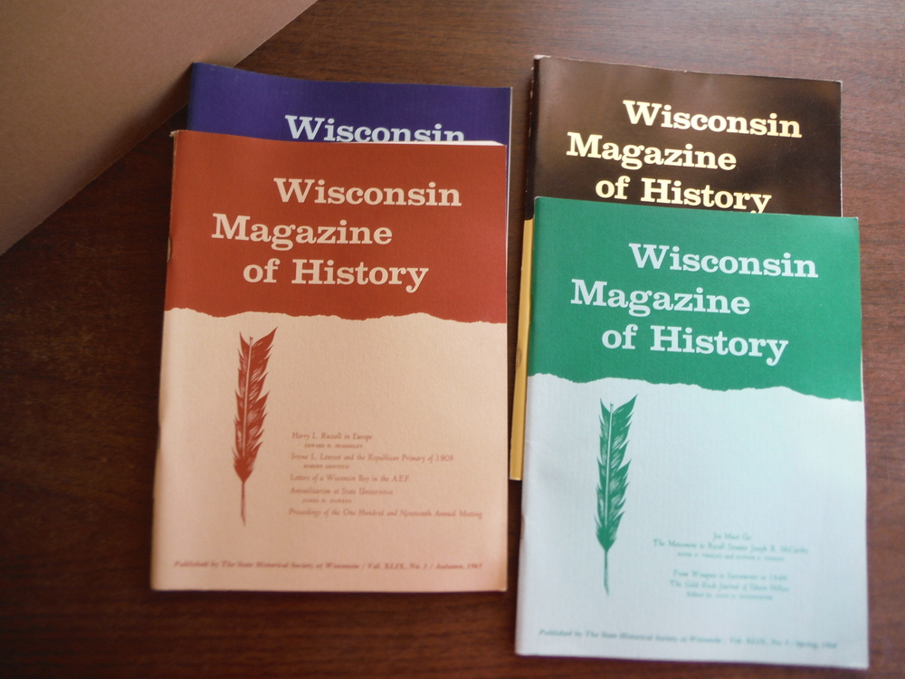 Wisconsin Magazine of  History Vol. XLIX Nos. 1 - 3 (1961 - 1962) and Vol L Autu