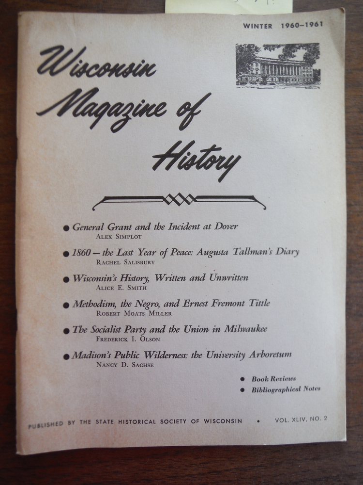 Image 0 of Wisconsin Magazine of History Vol. XLIV, No. 2 Winter 1960 - 1961