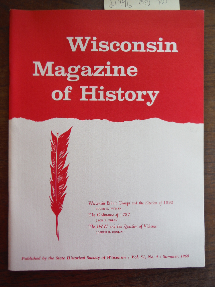 Image 0 of Wisconsin Magazine of History Vol 51, No. 4 Summer 1968