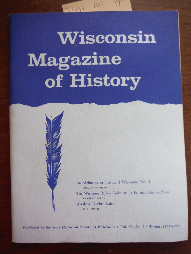 Image 0 of Wisconsin Magazine of  History Vol. 52, No. 2 Winter, 1968-1969