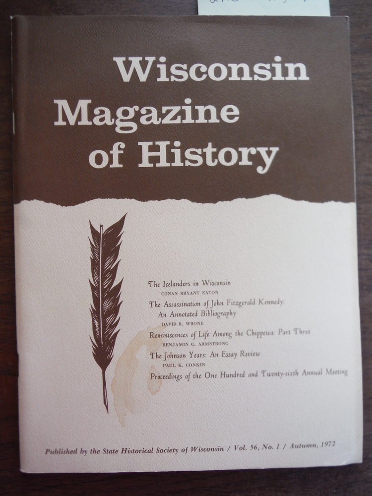 Image 0 of Wisconsin Magazine of History Vol 56 Number 2 Autumn 1972