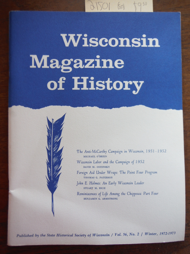 Image 0 of Wisconsin Magazine of History Vol 56 Number 2 Winter 1972-1973