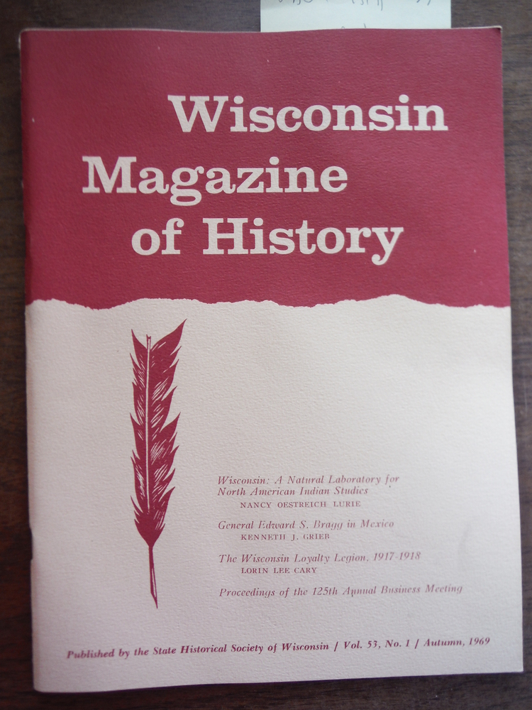 Image 1 of Wisconsin Magazine of History Vol 53 Nos. 1 - 4  1969-1970
