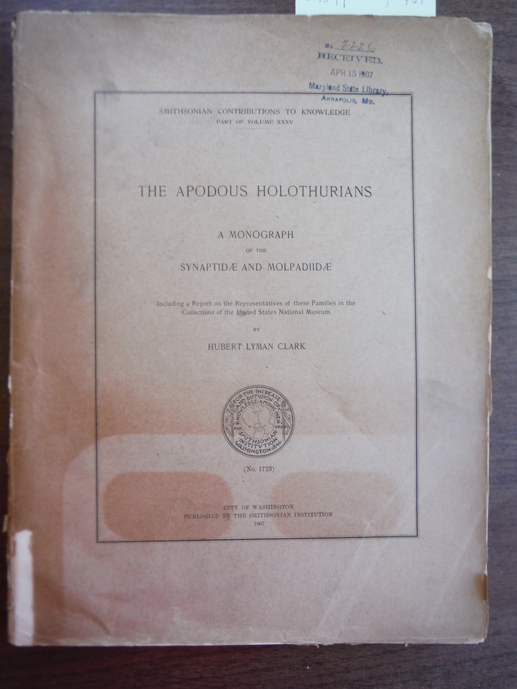 The Apodous Holothurians: A Monograph Of The Synaptidæ And Molpadiidæ, Includi
