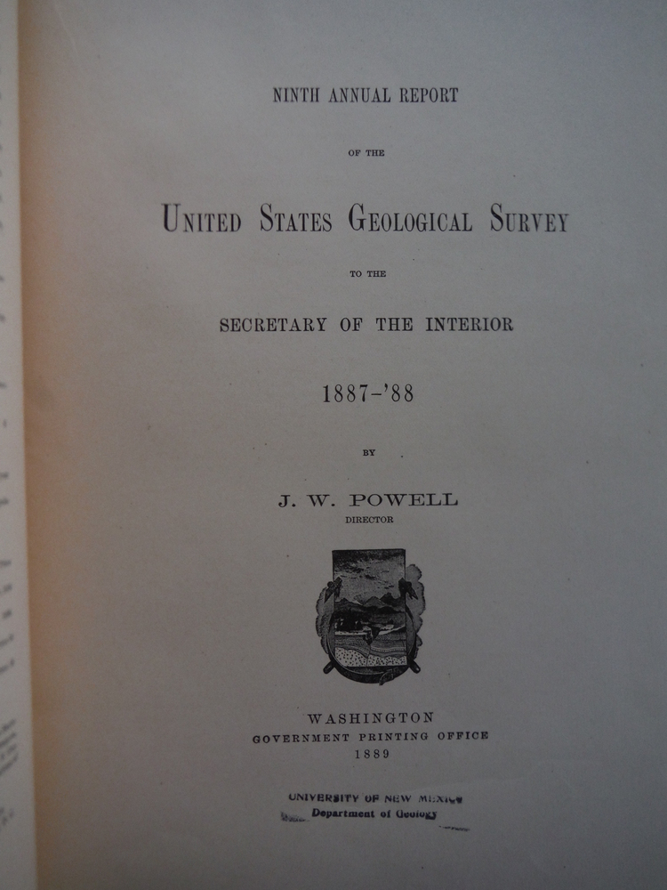 Image 1 of Ninth annual report of the United States Geological Survey to the Secretary of t
