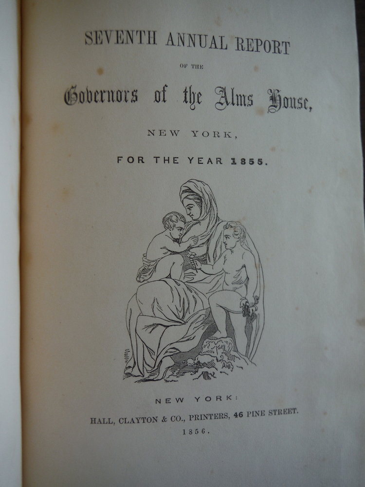 Image 1 of Seventh Annual Report of the Governors of the Alms House, New York: For the Year