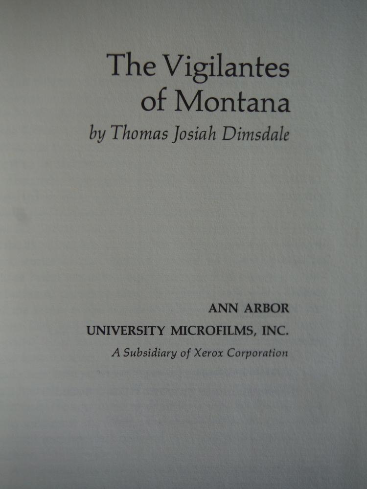 Image 1 of The Vigilantes of Montana